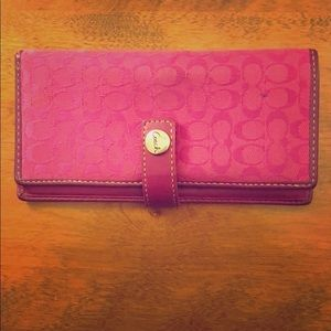 Used Coach Checkbook Wallet